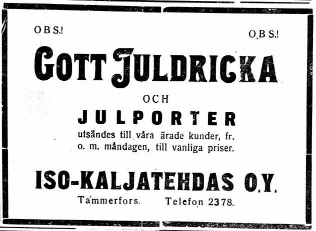 julporter-tammerfors-aftonblad-21-12-1927